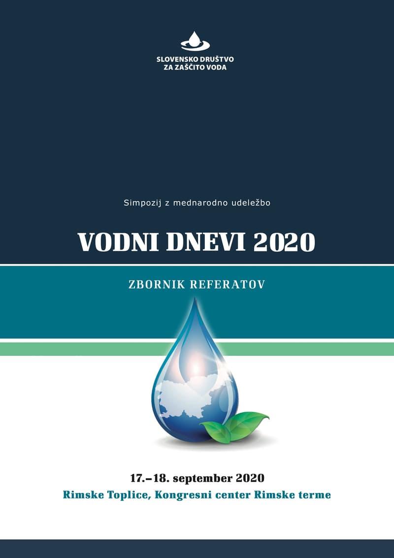 naslovnica zbornika Vodni dnevi 2020